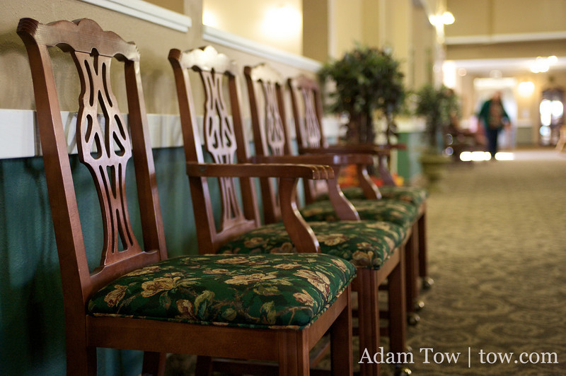 Chairs at the Northglenn Heights Assisted Care Center.