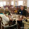 Jared speaks with another group of women from the Northglenn Heights Assisted Care Center.