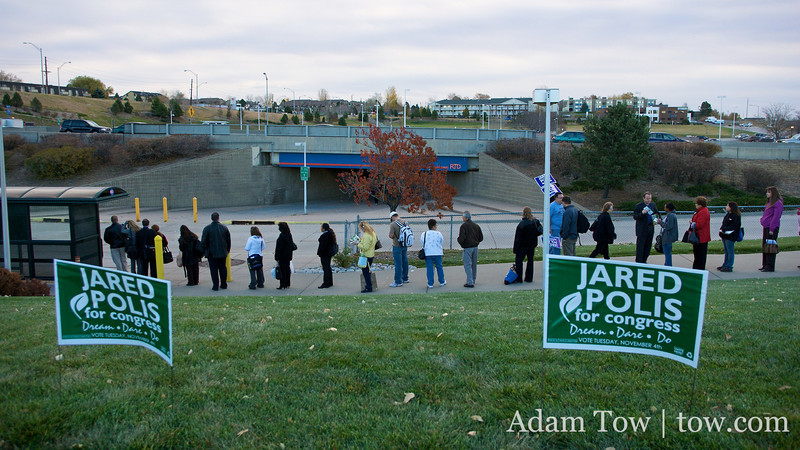 Jared Polis for Congress at the Thornton Park N Ride.