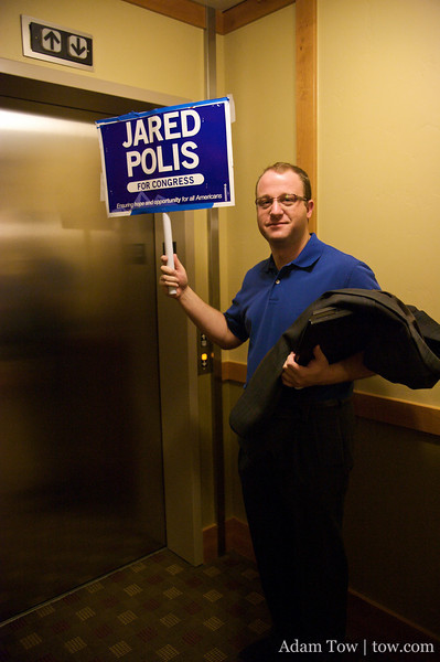 Jared gets ready for the last Park N Ride of this campaign.