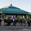 Lines of commuters were met by Jared Polis and his staff at the Wagon Road Park N Ride in Westminster, Colorado.