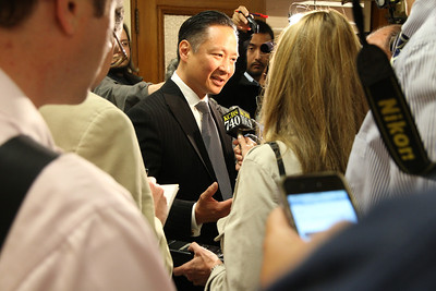 Public Defender Jeff Adachi enters the Mayor's Race in San Francisco, 2011