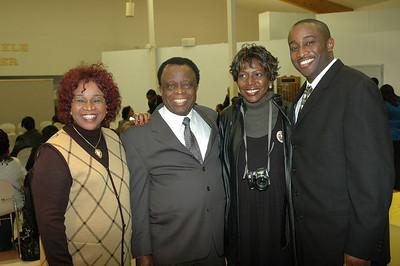 Ms Ohaebosim, Dr Ohaebosim, Bonita Gooch, and KC Ohaebosim