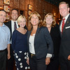 Officials toured the city of Gardner on Thursday afternoon, ending at the Gardner Ale House. From left is candidate for state senate Rich Bastein, Gardner Mayor Mark Hawke, Quincy City Councilor Kristen Hughes, candidate for Liuetenant Governor Karyn Polito, Susannah Whipps Lee, and Garrett Shetrawski, candidate for state representative. SENTINEL & ENTERPRISE / Ashley Green