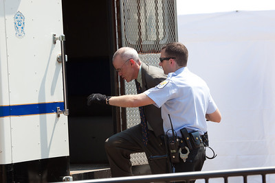 Police arrested Bill McKibben, the prominent climate activist and founder of 350.org. McKibben was among 65 environmentalists arrested on August 20, 2011, outside the White House in Washington DC, as part of a demonstration urging President Obama to block the proposed Keystone XL pipeline that would bring oil from Canada's oil sands projects to Gulf Coast refineries. The proposed $7 billion, 1,700 mile pipeline needs State Department approval to proceed, and the Obama administration plans to make a decision by the end of the year. This latest act of civil disobedience was the beginning of  two weeks of White House demonstrations, with more arrests expected daily. Among those arrested on August 20 were Gus Speth, whose career includes co-founding the Natural Resources Defense Council and chairing the White House Council on Environmental Quality in the Carter Administration; and Jane Hamsher, who founded the popular progressive blog Firedoglake. (Photo by Jeff Malet)