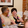 Emily Macrae and Joana Dos Santos share a laugh during the campaign kickoff party for State Representative candidate Kimatra Maxwell at Il Forno on Wednesday evening. During the event, Maxwell honored influential women in the community, including Macrae and Dos Santos. SENTINEL & ENTERPRISE / Ashley Green
