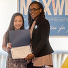 State Representative candidate Kimatra Maxwell presents Kira Andreucci with an Outstanding Service award at Il Forno. Maxwell honored influential women in the community as part of her campaign kickoff event on Wednesday evening. SENTINEL & ENTERPRISE / Ashley Green