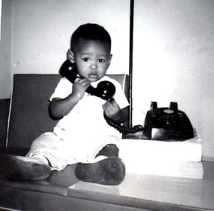 Mike making calls 1963