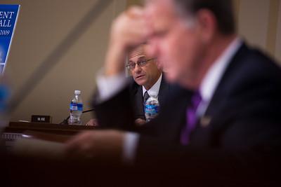 Congressman Steve King (background)