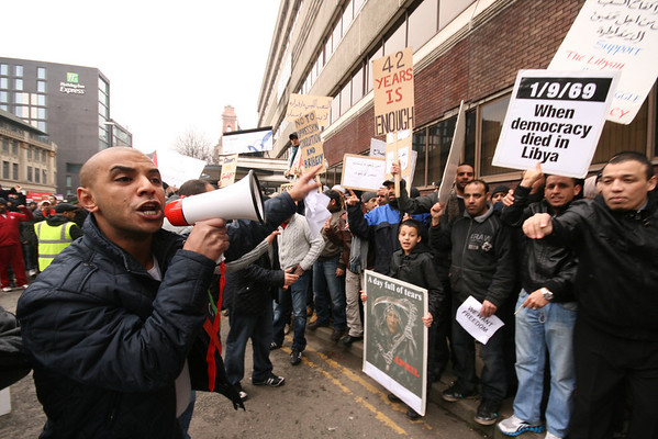 Libya Demo - BBC Manchester Feb 2011
