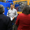 Rocheleau Tool & Die Company Inc. was the first stop Tuesday morning on a tour for educators, school officials and local politicians to see how manufacturing company's work in the region to help strengthen the relationship between the school and the companies. President of Rocheleau's Steve Rocheleau leads the tour and explains what they do and how things work at his company. SENTINEL& ENTERPRISE/JOHN LOVE