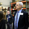 Rocheleau Tool & Die Company Inc. was the first stop Tuesday morning on a tour for educators, school officials and local politicians to see how manufacturing company's work in the region to help strengthen the relationship between the school and the companies. Fitchburg Superintendent Andre Ravenelle and others listen closely to President of Rocheleau's Steve Rocheleau during the tour of his company. SENTINEL& ENTERPRISE/JOHN LOVE