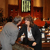 Current State Rep. Valarie Hodges welcomes former Rep. Lala Lalonde to the State Capitol during Former Legislators Day at the State Capitol in Baton Rouge on May 2, 2012. Photo by former Rep. Woody Jenkins.