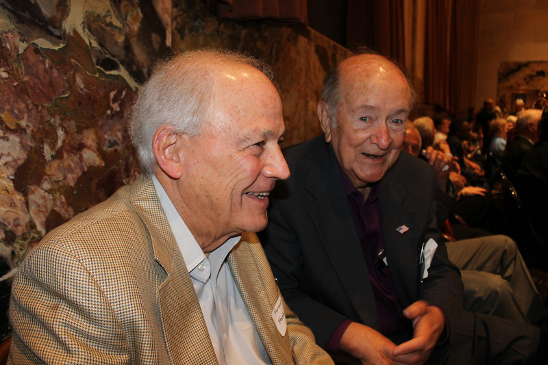 Former Reps. Frank Simoneaux (Baton Rouge) and Dick Guidry (Lockport).  Photo by former Rep. Woody Jenkins, taken during Former Legislators Day at the State Capitol in Baton Rouge on May 2, 2012.