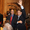 Former House Speaker Joe Salter and former Congressman and State Rep. Charles Melancon during Former Legislators Day at the State Capitol in Baton Rouge on May 2, 2012. Photo by former Rep. Woody Jenkins.