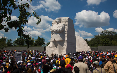 Thousands paid their respects to Dr. King at the Martin Luther King Jr. Memorial, which was dedicated in 2011, becoming the first memorial on the National Mall dedicated to an individual who wasn't a former president.