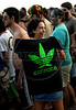 Youngsters march in favour of the legalization of cannabis during the Global Marijuana March at Ipanema beach, Rio de Janeiro, Brazil, May 9, 2009. (Austral Foto/Renzo Gostoli)