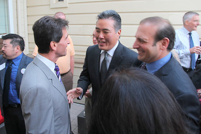 Center, Mark Takano, teacher and candidate for the United States Congress, District 41, Riverside County.
