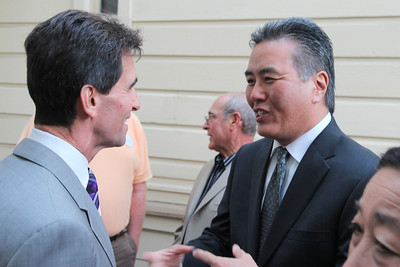 Right, Mark Takano, teacher and candidate for the United States Congress, District 41, Riverside County.