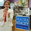 Maura Healey, candidate for Attorney General, during the event held at Sunrise Diner in Fitchburg on Tuesday evening, sponsored by Mayor Lisa Wong, Susan Chalifoux Zephir and Lynda Tocci. SENTINEL & ENTERPRISE / Ashley Green
