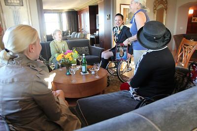 Left to right: Sarah Geller, Marilyn Fowler, Michela Alioto-Pier, Lynne Newhouse Segal, Lara Arguelles.