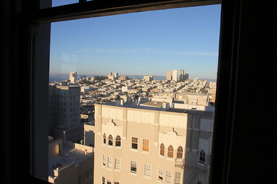A view from this Pacific Heights condo.