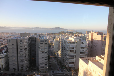 Another incredible view, looking north towards Marin and Alcatraz island.
