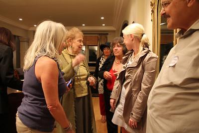 Left to right: Lynne Newhouse Segal, Marilyn Fowler, Lara Arguelles, Helynna Brooke, Sarah Geller, Anthony Galletta.