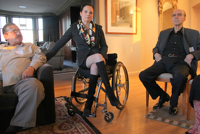 Left to right: Anthony Galletta, Michela Alioto-Pier, Richard Kunin M.D.