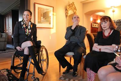 Left to right: Michela Alioto-Pier, Richard Kunin M.D., Matilda Kunin.