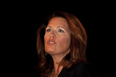 Representative Michele Bachmann (R-Minn.) addresses social conservatives at the Values Voter Summit in Washington DC on September 17, 2010. The event was sponsored by the Family Research Council. (Photo by Jeff Malet).
