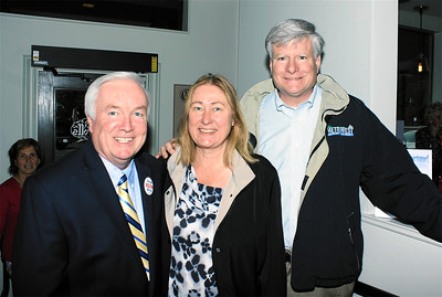 Medford Mayor Michael McGlynn with Donna and Fred Lasky.