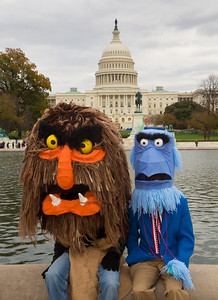 Muppet characters Sweetums and Sam the Eagle