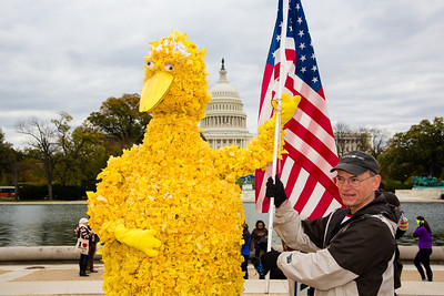 Danny Finck of Richmond VA and David Heckman of Columbia MD (hidden behind Big Bird)