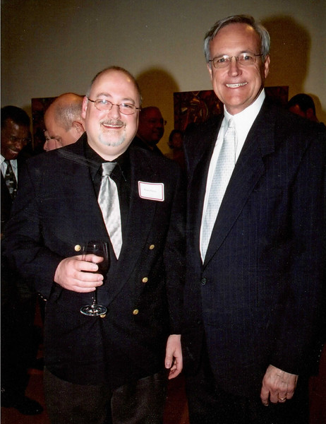 circa 2006  - Gary E. Gray with Bill King at his TSU Board Position swearing in ceremony and later reception.  Photo taken on the TSU campus in Houston, Texas.  Photo by Earlie Hudnall. Photo courtesy of Dr. Priscilla D. Slade, President of TSU.
