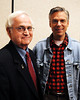 Former Utah governor & ambassador to China, Jon Huntsman, and NH District 4 Representative, David Knox, (R) Wolfeboro, take a moment for a photo, at the North Conway Grand Hotel, during a breakfast event, in North Conway, NH, on June 4th, 2011.