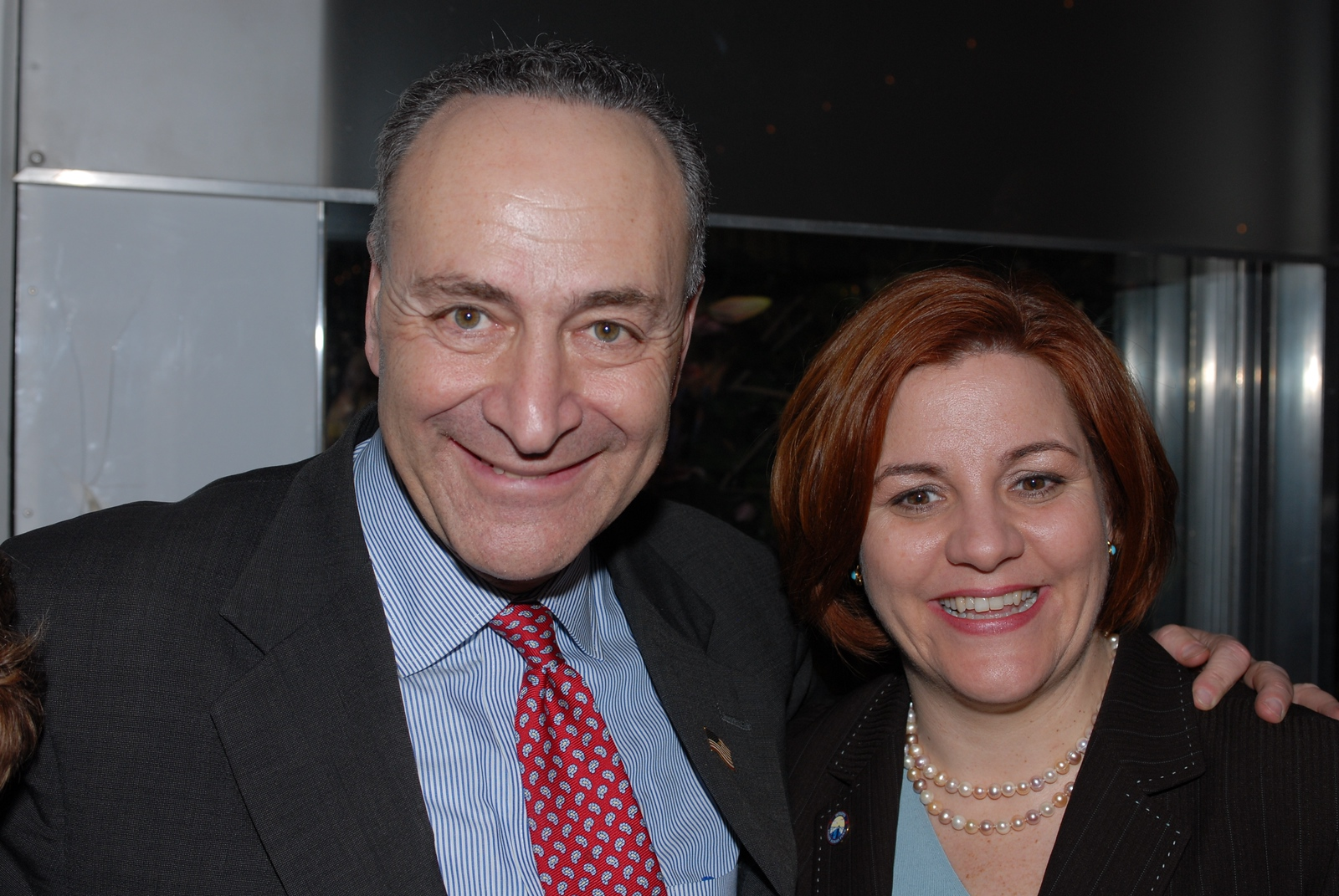 BSC_7103 US Senator Chuck Schumer and NYC Council Speaker Christine Quinn 02-21-2007