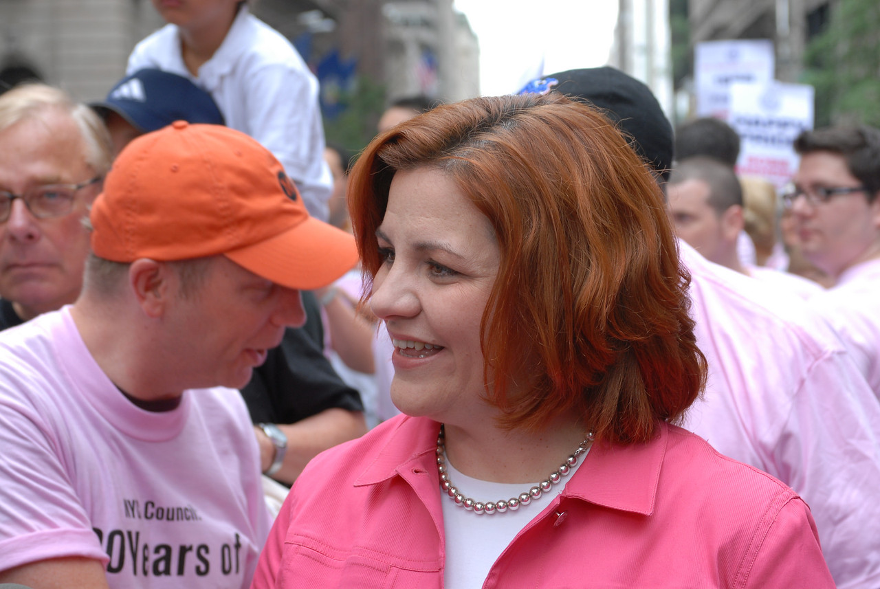 NYC Gay Pride Parade 2006<br /> NY City Council Speaker and Parade Co-Grand Marshall Christine Quinn ©2006 Mark Forman Productions, Corp. screeningroom.com