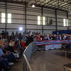 About one hour before the beginning of the event. An estimated 200 people attended.