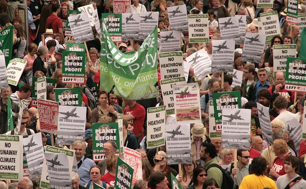 No to 3rd runway Heathrow protest