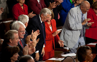 House Minority Whip Steny Hoyer (D-MD) House Minority Leader Nancy Pelosi (D-CA) Rep. John Dingell (D-MI)