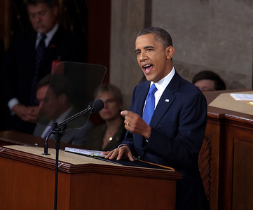 President Barack Obama called on Congress to pass a $447 billion package of tax cuts and spending to get America back to work in a major speech before a joint session of Congress on Capitol Hill in Washington DC on September 8, 2011.
