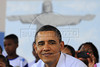 HAND OUT PHOTO Agencia Brasil - US president Barack Obama assists at artistic spectacle of kids in Cidade de Deus (City of God) slum Rio de Janeiro, Brazil, march 20, 2011.  (Austral Foto/Fabio Rodrigues-Pozebom/ABR