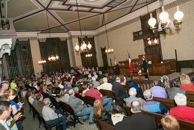 Standing room only crowd at the Parker County Courthouse for the Candidate Forum Monday night.