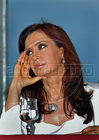 Cristina Fernández de Kirchner, elected President of Argentina, Buenos Aires, Argentina, Nov. 7, 2007. (Austral Foto/Horacio Paone)