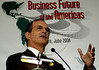 "Brazil's minister of development, industry and foreign trade, Luiz Fernando Furlan during conference ""Business Future of the Americas"" organizated by American Chamber of Rio de Janeiro, Rio de Janeiro, Brazil, June 5, 2006. US minister of trade Carlos Gutierrez participates at the conference.  (Renzo Gostoli/Austral Foto)"