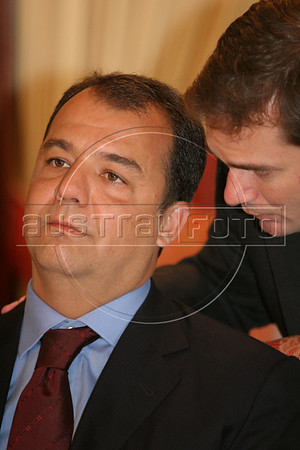 Rio de Janeiro Governor Sergio Cabral in Rio de Janeiro in Feb. 2007.(AustralFoto/Douglas Engle)