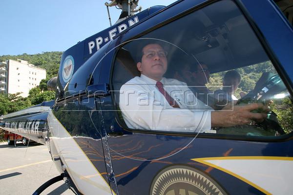 US Attorney General Alberto Gonzales on a visit to Rio de Janeiro in Feb. 2007.(AustralFoto/Douglas Engle)