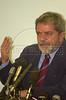 Brazilian  Presidential candidate Luiz Inacio Lula da Silva during a press conference.(Australfoto/Douglas Engle)