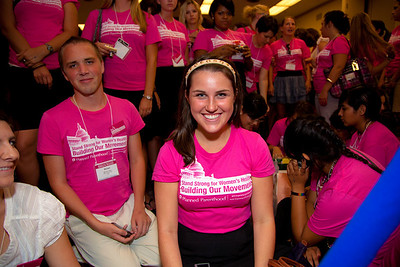 Planned Parenthood activist Zoe Adams (Cleveland OH). One of the 300 Planned Parenthood activists from across the country that are canvassing Capitol Hill.